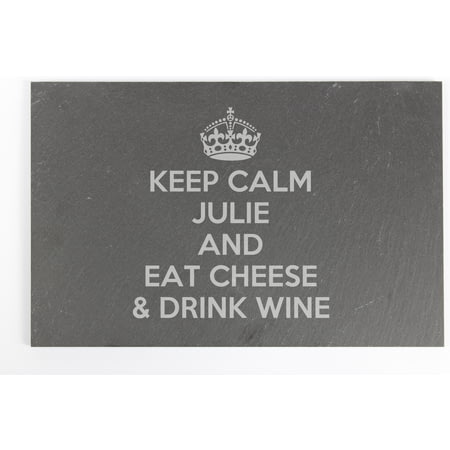Personalised Keep Calm Slate Cheeseboard