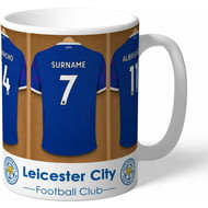 Personalised Leicester City FC Dressing Room Shirts Mug