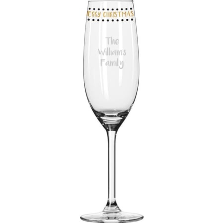 Personalised Merry Christmas Champagne Flute