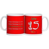 Personalised Birthday Age Ceramic Mug