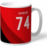 Personalised AFC Bournemouth Stripe Mug