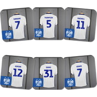 Personalised Bury FC Dressing Room Shirts Coasters Set of 6
