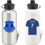 Personalised Everton FC Shirt Aluminium Sports Water Bottle