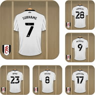 Personalised Fulham FC Dressing Room Shirts Coasters Set of 6