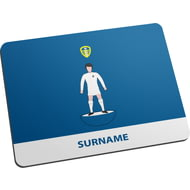 Personalised Leeds United FC Player Figure Mouse Mat