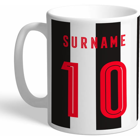 Personalised Newcastle United Retro Shirt Mug