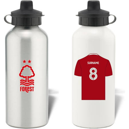 Personalised Nottingham Forest FC Shirt Aluminium Sports Water Bottle