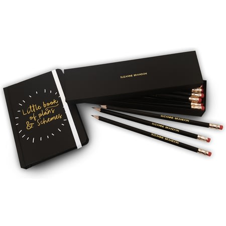 Personalised Plans & Schemes Notebook & Pencils