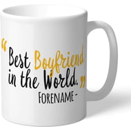 Personalised Wolves FC Best Boyfriend In The World Mug