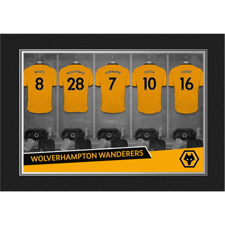 Personalised Wolves 9x6 Dressing Room Shirts Photo Folder