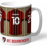 Personalised AFC Bournemouth Dressing Room Shirts Mug