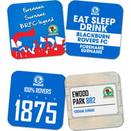 Personalised Blackburn Rovers FC Coasters