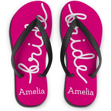 Personalised Bride Small Flip Flops