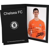 Personalised Chelsea FC Courtois Autograph Photo Folder