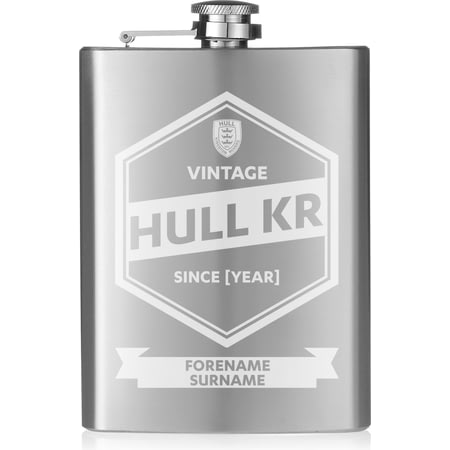 Personalised Hull Kingston Rovers Vintage Hip Flask