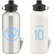 Personalised Manchester City FC Retro Shirt Aluminium Sports Water Bottle
