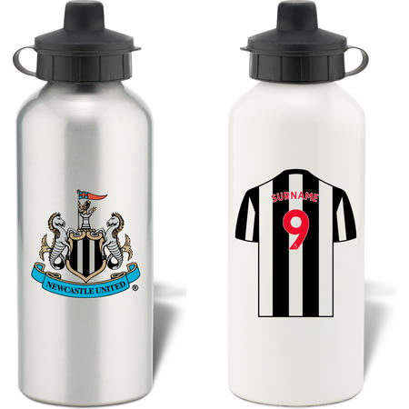 Personalised Newcastle United FC Shirt Aluminium Sports Water Bottle