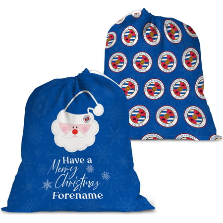 Personalised Reading FC Merry Christmas Santa Sack
