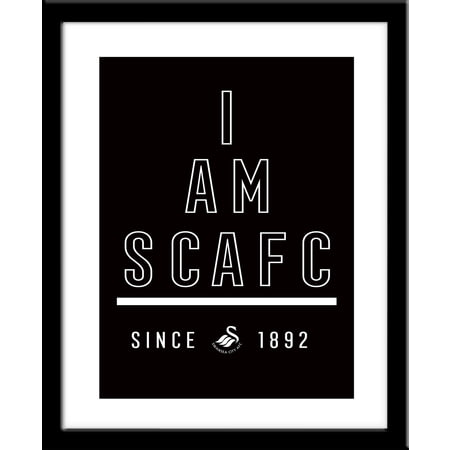 Personalised Swansea City I Am Framed Print