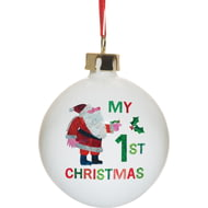 Personalised Very Hungry Caterpillar My 1st Christmas Ceramic Tree Bauble