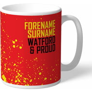 Personalised Watford FC Proud Mug