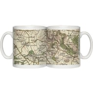 Personalised 1896 - 1904 Revised New Map Of Your Postcode Ceramic Mug