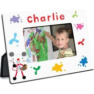 Personalised Arty Mouse Splash Photo Frame
