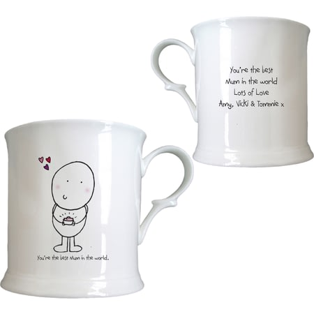 Personalised Chilli & Bubble's Mother's Day Half Pint Tankard