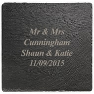 Personalised Engraved Square Slate Coaster