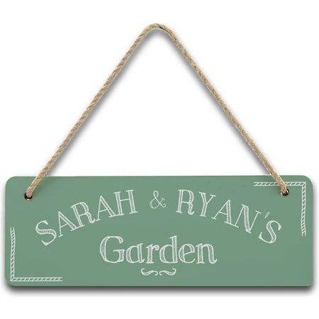 Personalised Hanging Garden Sign