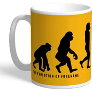 Personalised Wolves FC Evolution Mug