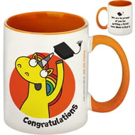Personalised Graduation Orange Inside Mug