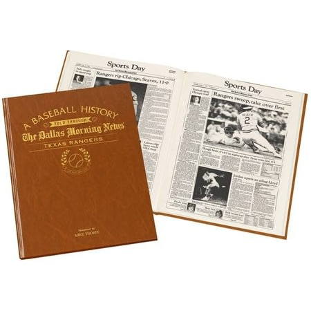 Personalised Texas Rangers Baseball Newspaper Book