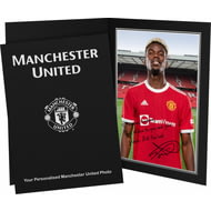 Personalised Manchester United FC Pogba Autograph Photo Folder