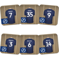 Personalised Millwall FC Dressing Room Shirts Coasters Set of 6