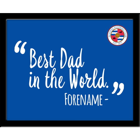 Personalised Reading Best Dad In The World 10x8 Photo Framed