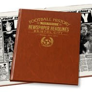 Personalised Bristol City Football Newspaper Book - Leatherette Cover