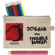Personalised Beano Big Heads Gnasher Pencil Case & Pencils
