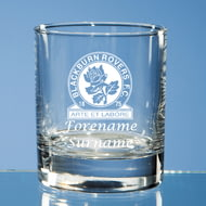 Personalised Blackburn Rovers FC Crest Whisky Glass