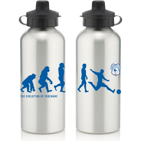 Personalised Cardiff City Evolution Water Bottle