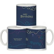 Personalised Happy Birthday Ceramic Mug