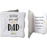 Personalised Just Like A Dad To Me Ceramic Message Card