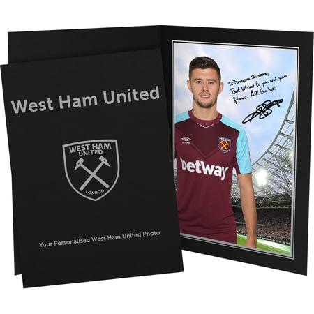 Personalised West Ham United FC Cresswell Autograph Photo Folder
