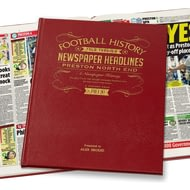 Personalised Preston Newspaper History Book