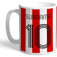 Personalised Brentford Retro Shirt Mug