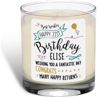 Personalised Birthday Slogan Vanilla Scented Candle