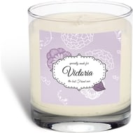 Personalised Best Ever Floral Rose Scented Candle