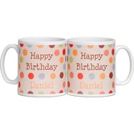 Personalised Birthday Ceramic Mug - Dotty Design