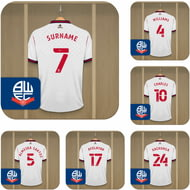 Personalised Bolton Wanderers FC Dressing Room Shirts Coasters Set of 6