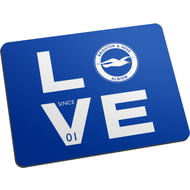 Personalised Brighton & Hove Albion FC Love Mouse Mat